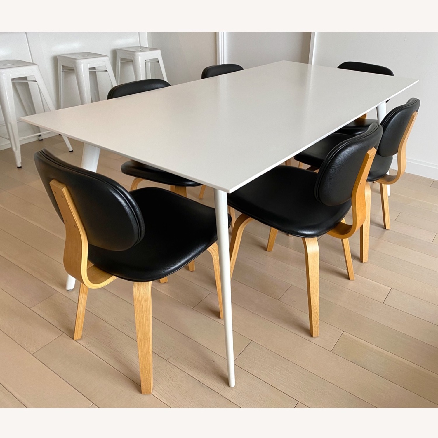 ABC Home White Modern Dining Table - image-1