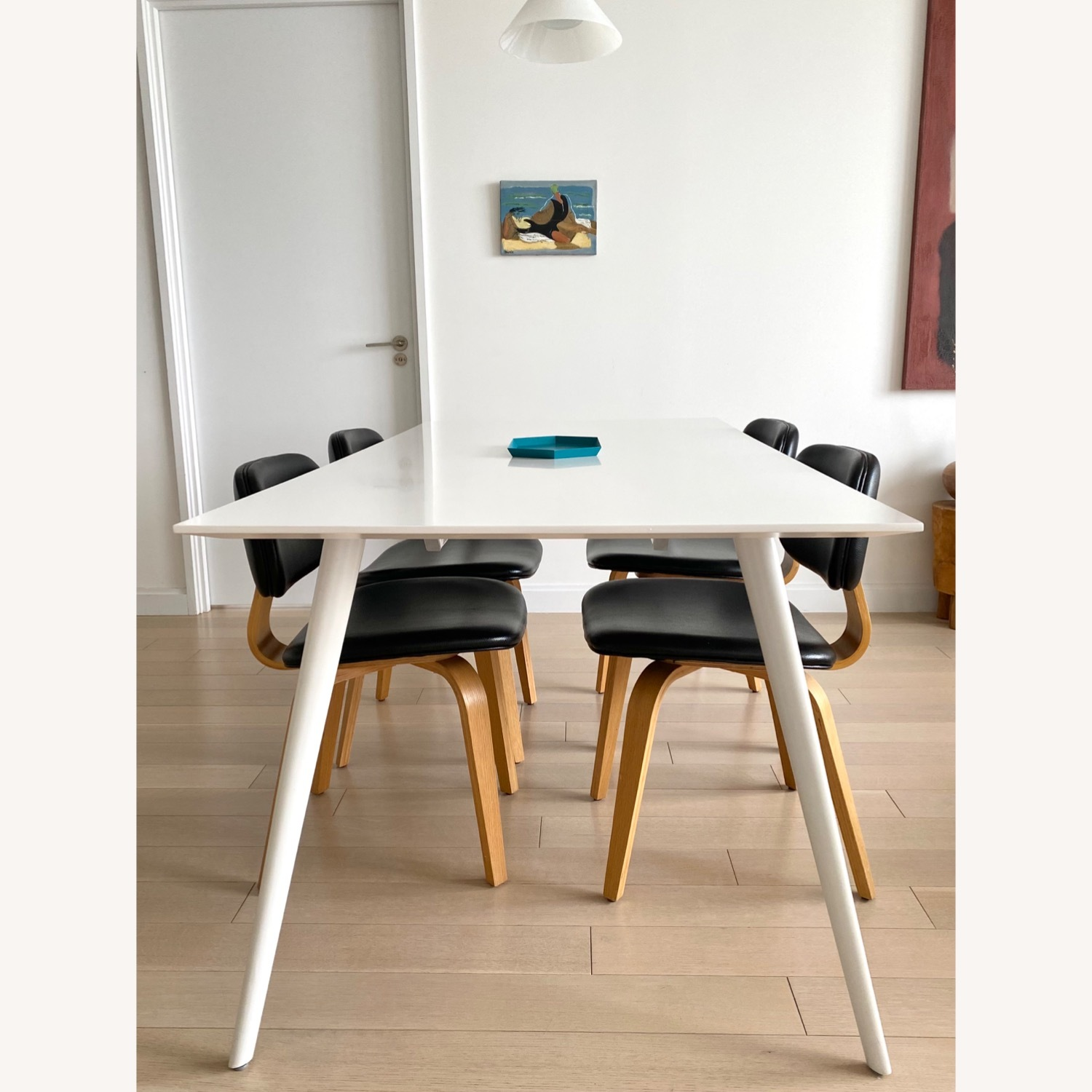 ABC Home White Modern Dining Table - image-6
