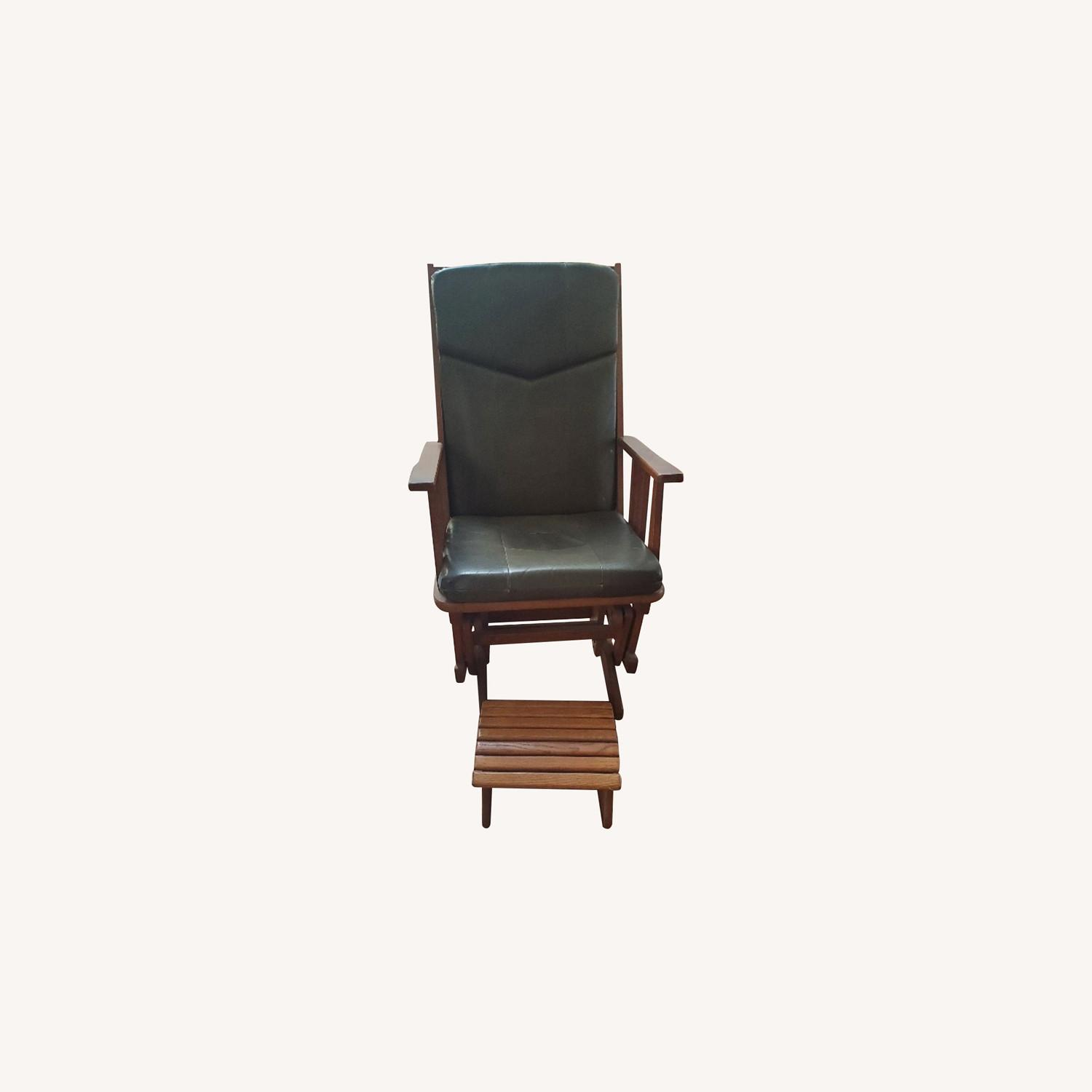 Dutailier Glider - Shaker Wood, Leather Seating - image-0