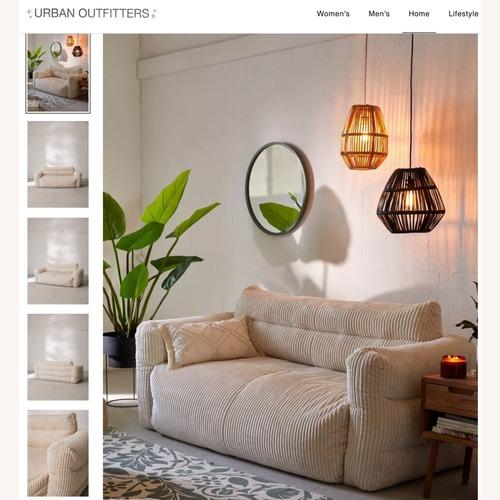 Used Urban Outfitter Matilda Floor Sofa for sale on AptDeco