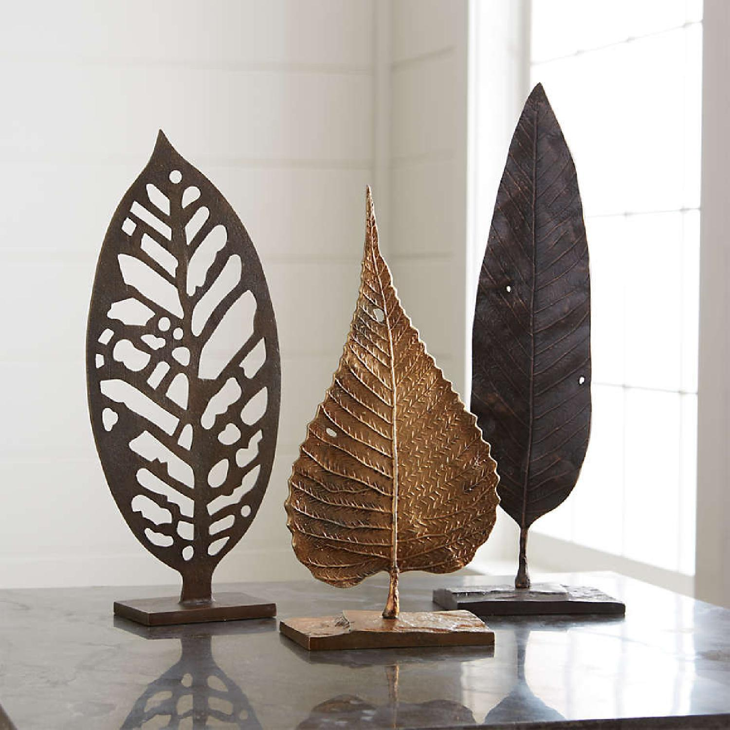 Crate & Barrel Beech Leaf on Stand - image-0