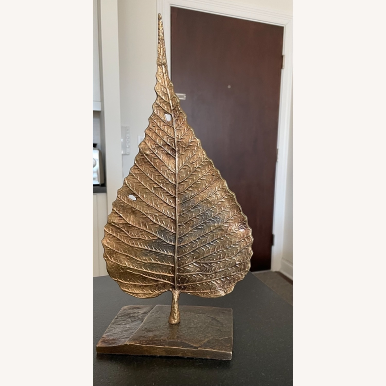 Crate & Barrel Bodhi Leaf on Stand - image-1