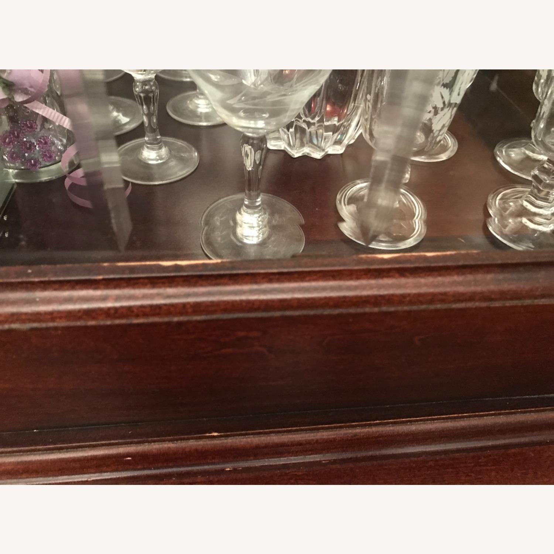 Macy's Elegant Cherry Wood China Cabinet - image-5