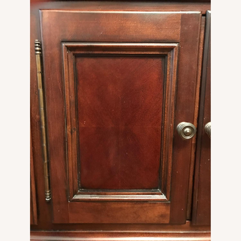 Macy's Elegant Cherry Wood China Cabinet - image-6