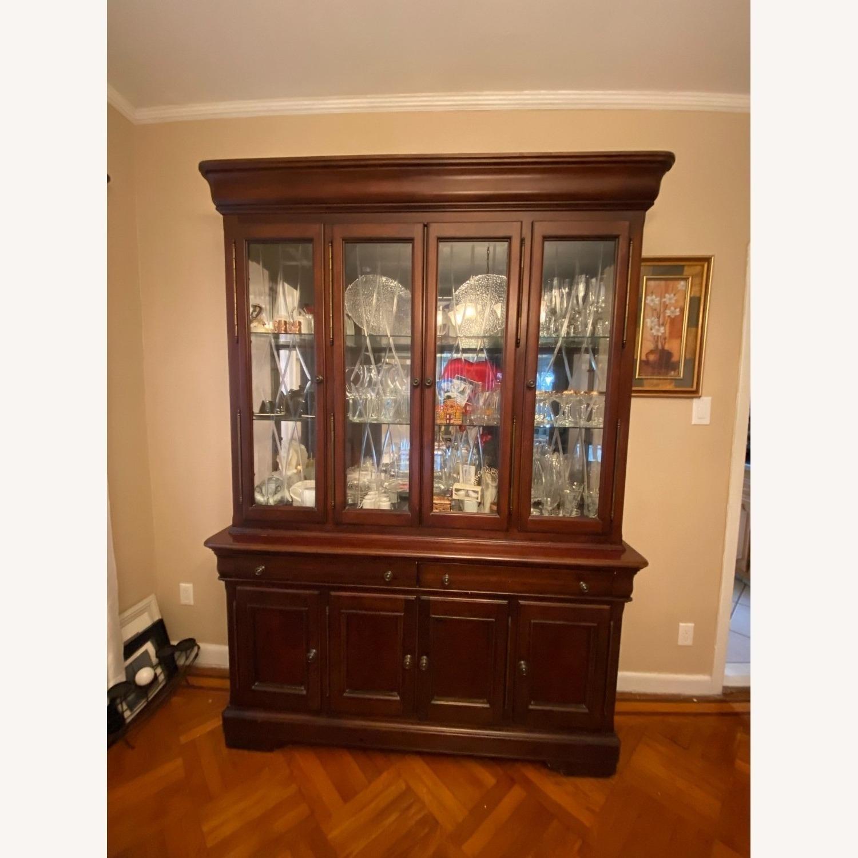 Macy's Elegant Cherry Wood China Cabinet - image-1