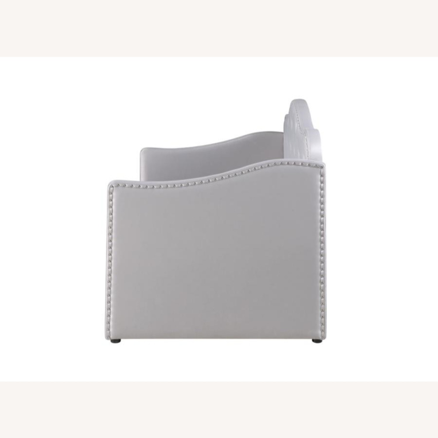 Daybed In Pearlescent Grey Leatherette Finish - image-3