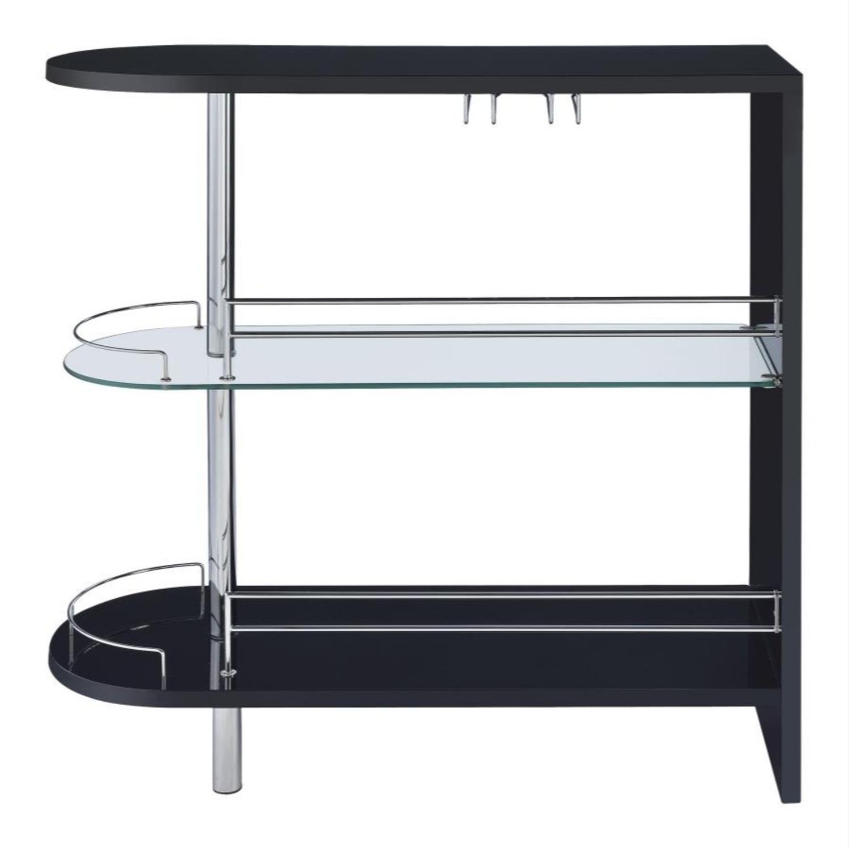 Bar Unit In Black High Gloss Finish - image-2