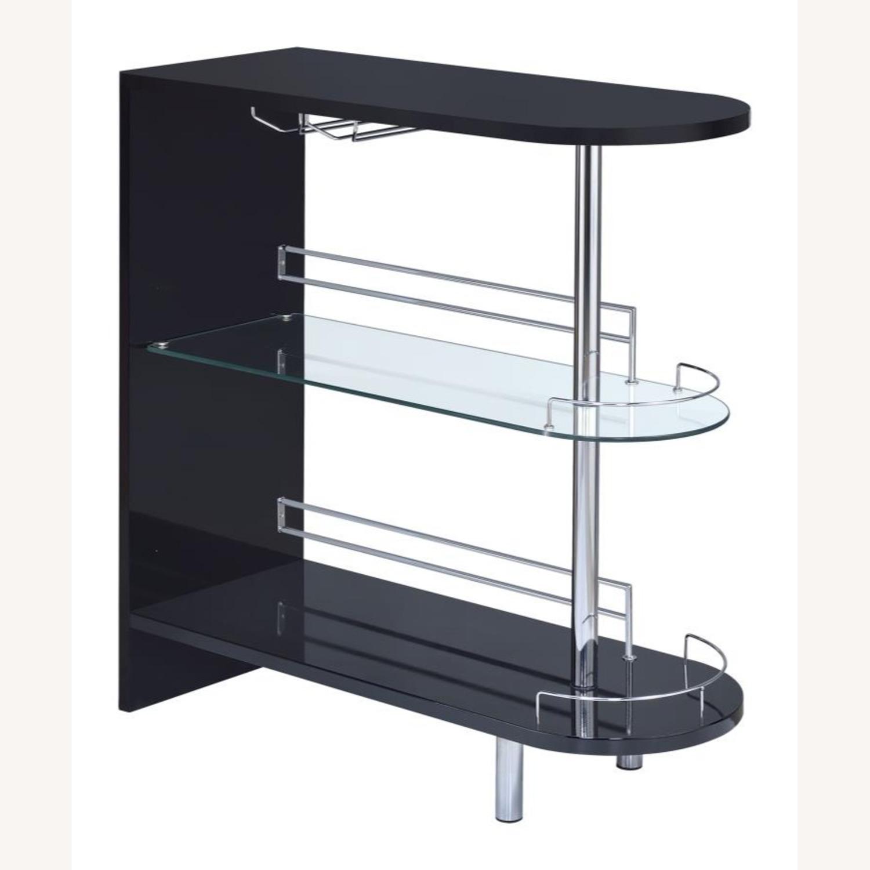 Bar Unit In Black High Gloss Finish - image-0