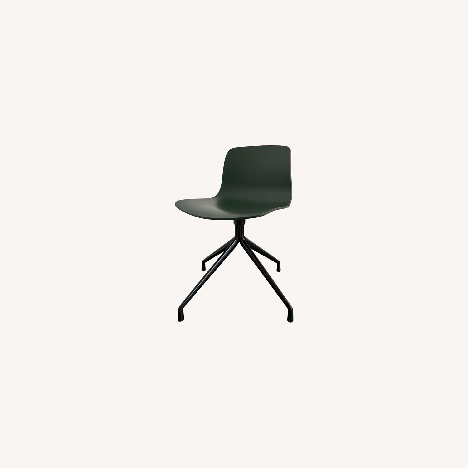 HAY Accent Chairs (Black/Green) - image-0