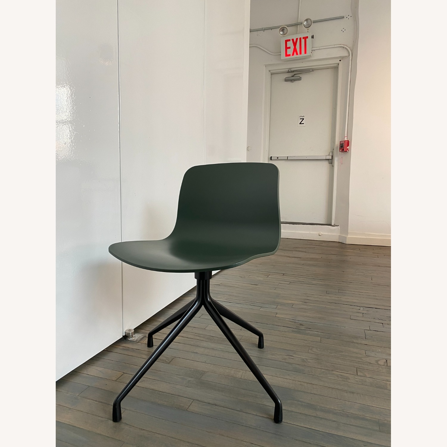 HAY Accent Chairs (Black/Green) - image-1