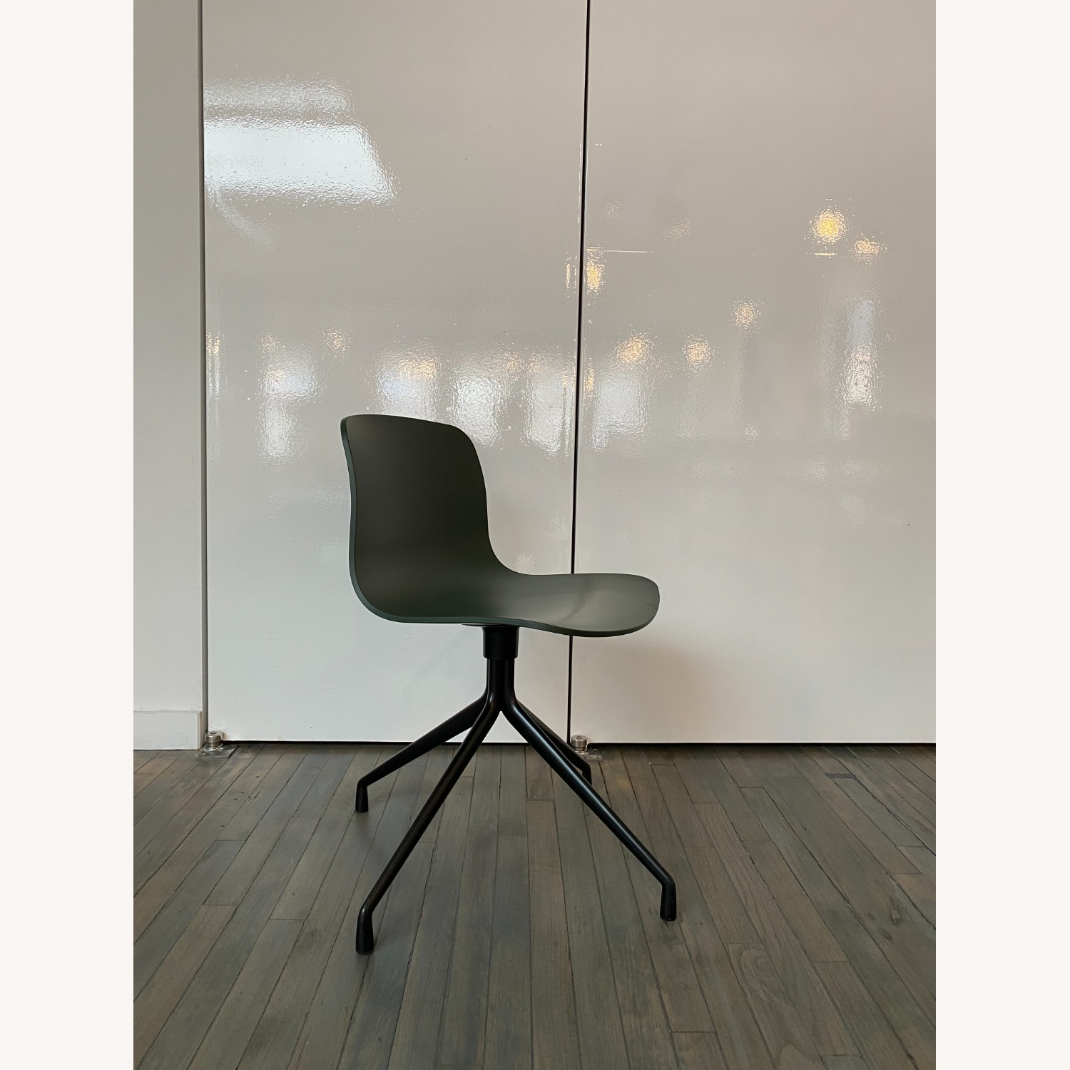 HAY Accent Chairs (Black/Green) - image-2
