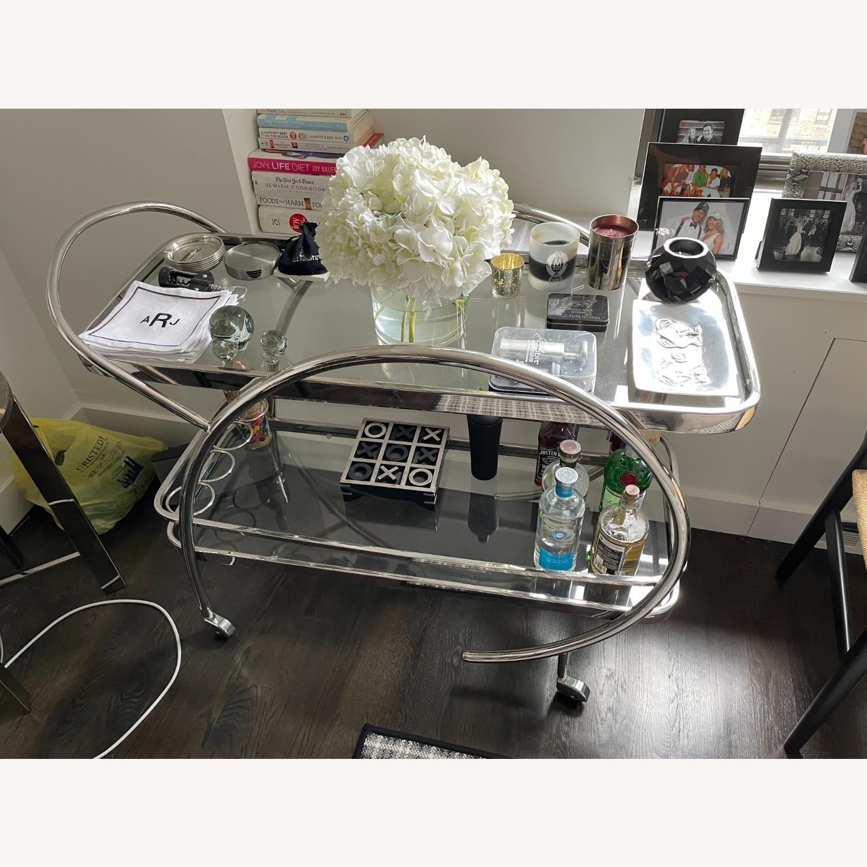 Mitchell Gold + Bob WilliamMelrose Bar Cart - Chrome & Glass - image-3