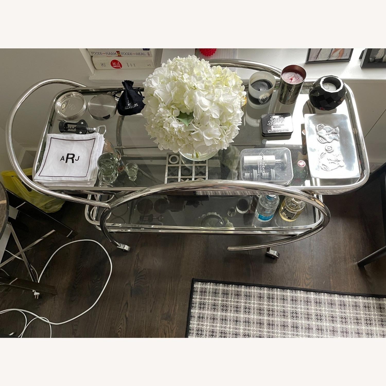 Mitchell Gold + Bob WilliamMelrose Bar Cart - Chrome & Glass - image-5