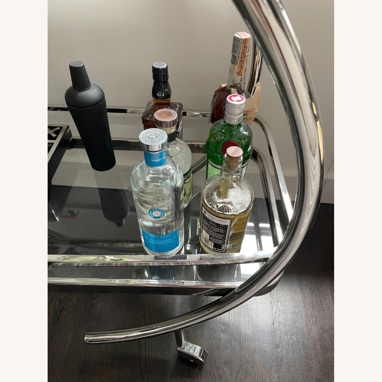 Mitchell Gold + Bob WilliamMelrose Bar Cart - Chrome & Glass - image-4
