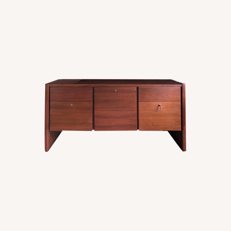 Vintage Solid Wood Credenza - image-0