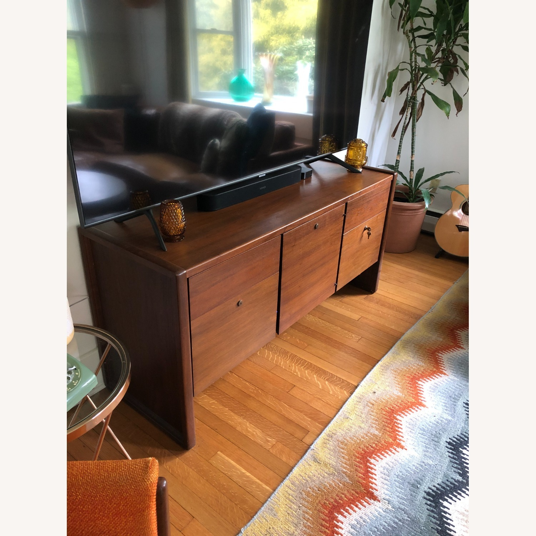 Vintage Solid Wood Credenza - image-2