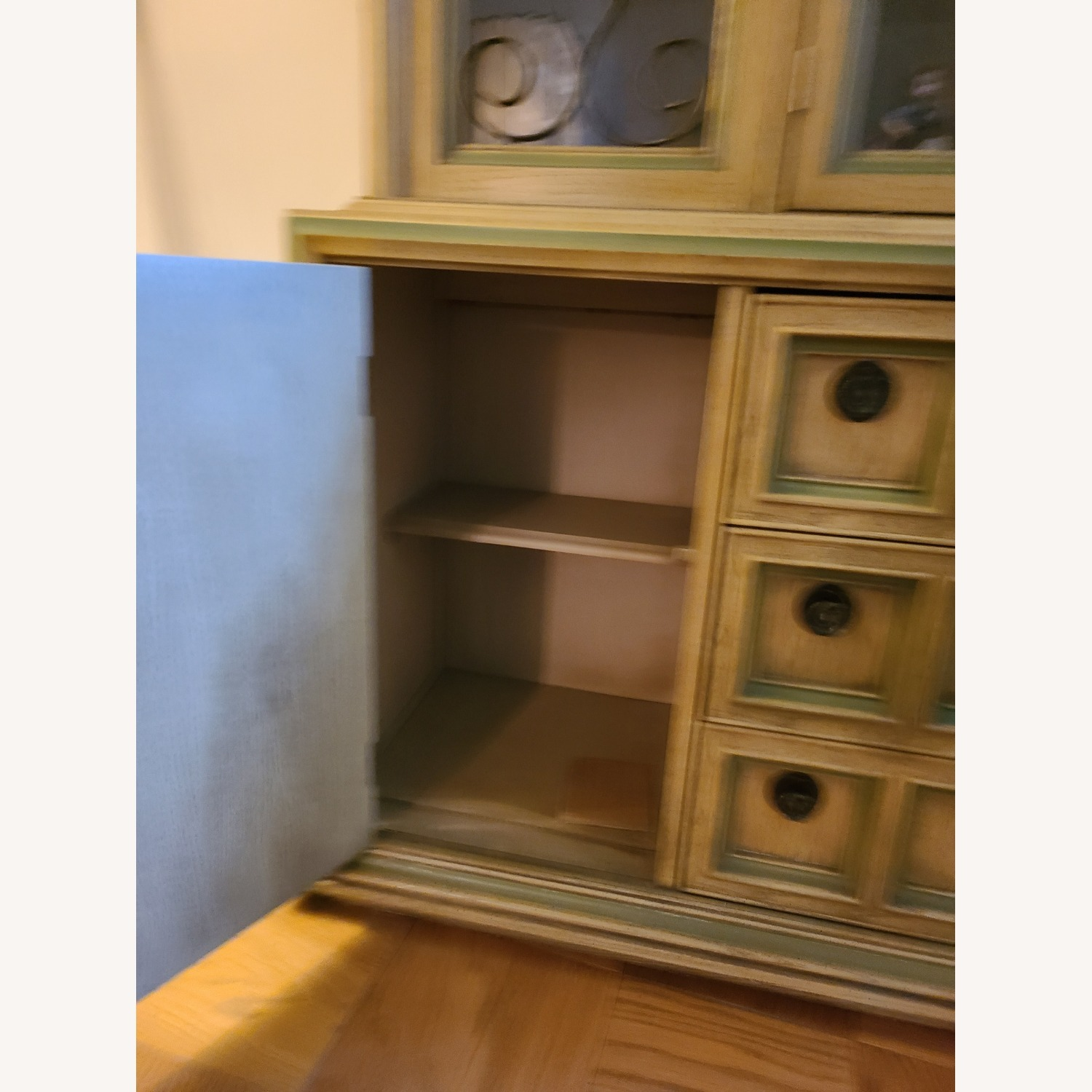 Vintage Wood and Glass Wall Unit - image-4