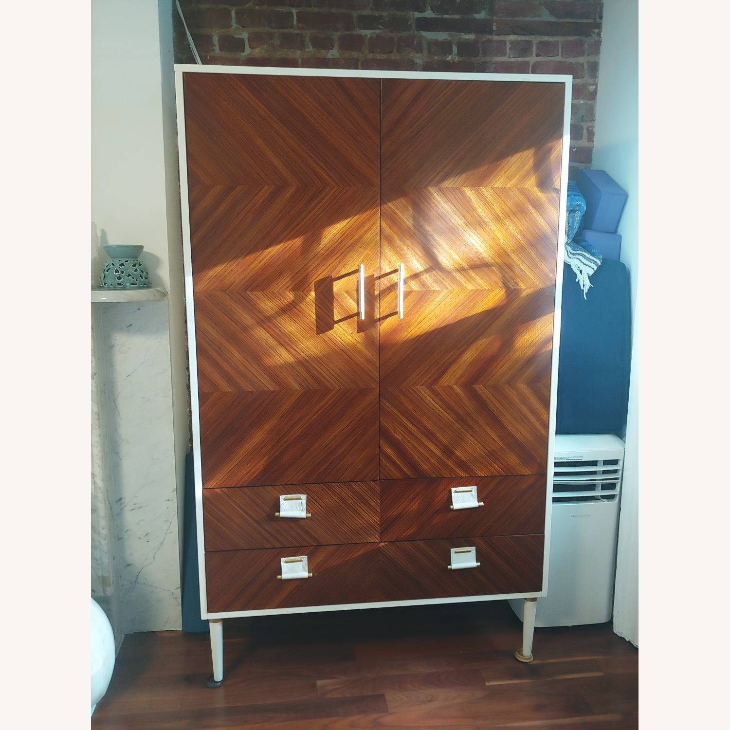 Anthropologie Geo-Marquetry Armoire - image-3