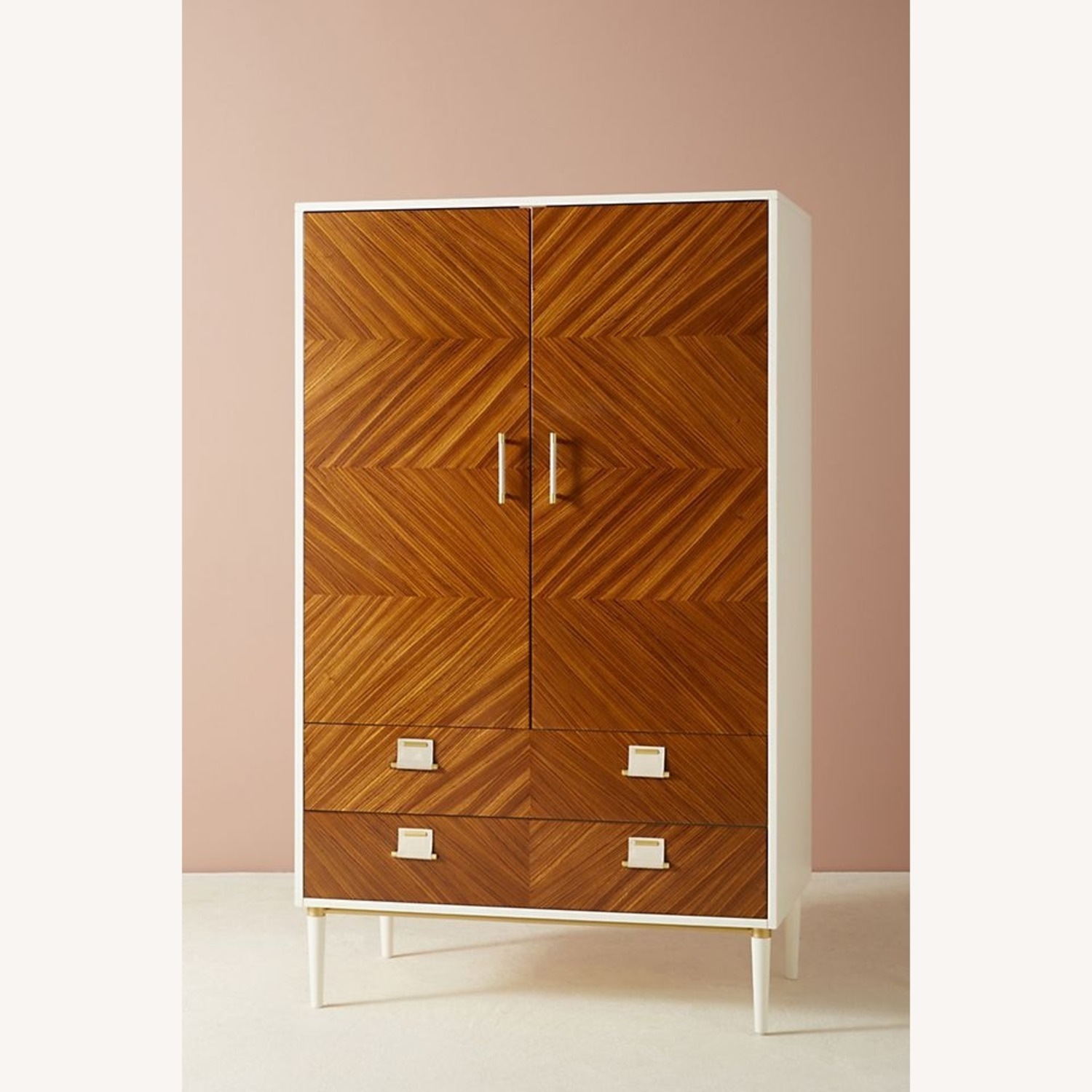 Anthropologie Geo-Marquetry Armoire - image-1