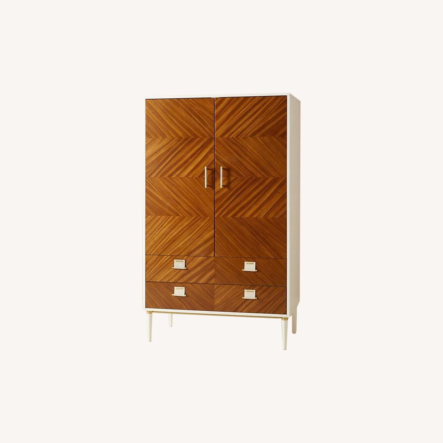 Anthropologie Geo-Marquetry Armoire - image-0
