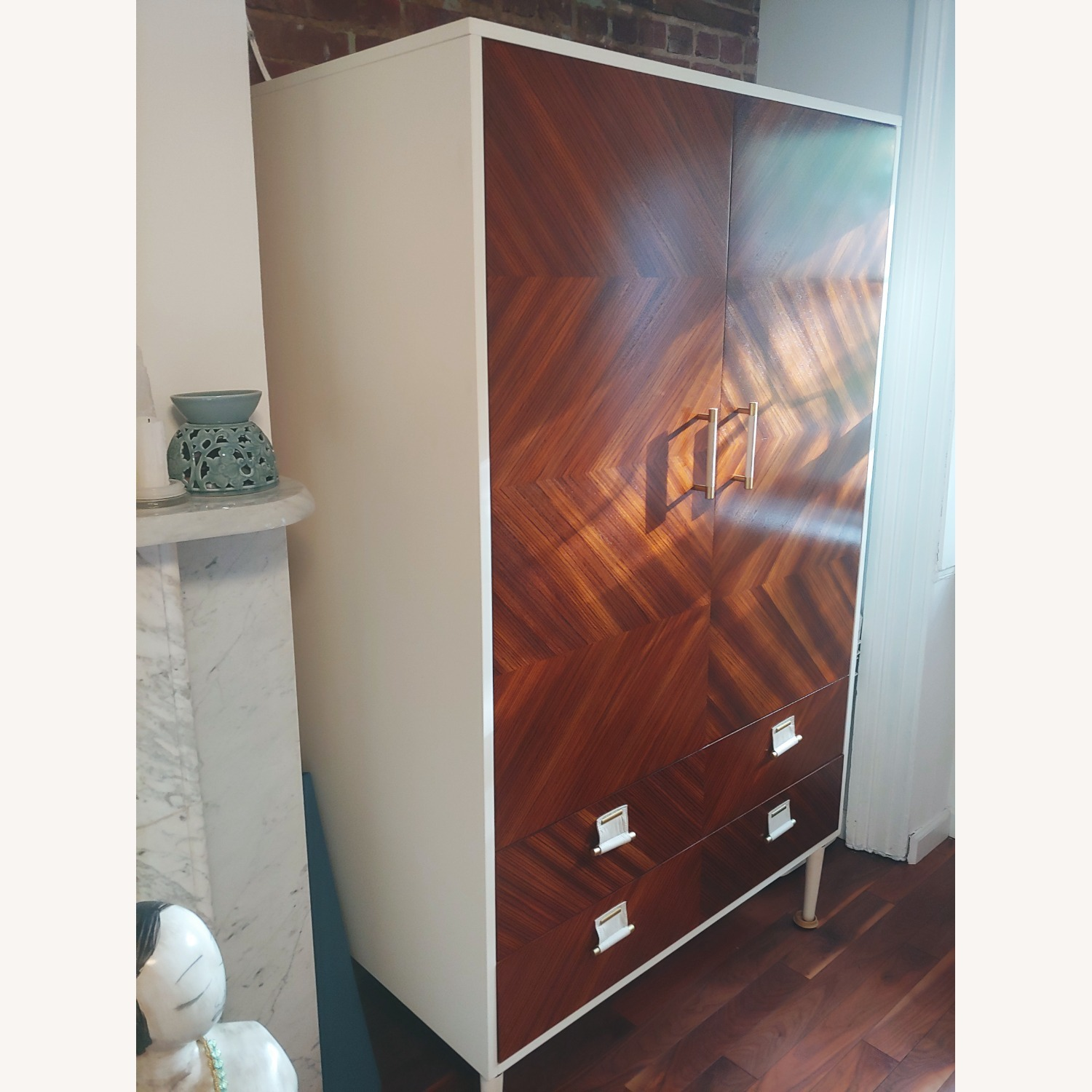 Anthropologie Geo-Marquetry Armoire - image-4
