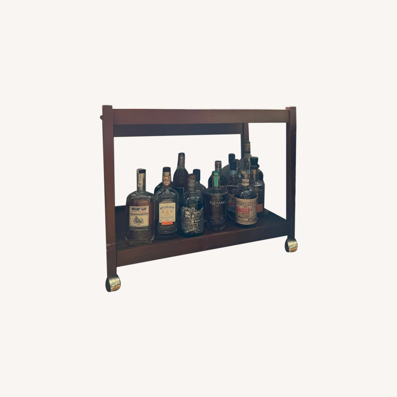 Vintage/Retro Wood Bar Cart - image-0