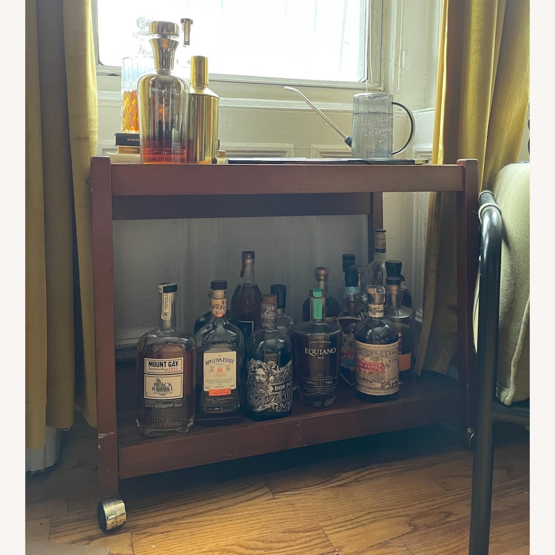 Vintage/Retro Wood Bar Cart - image-2