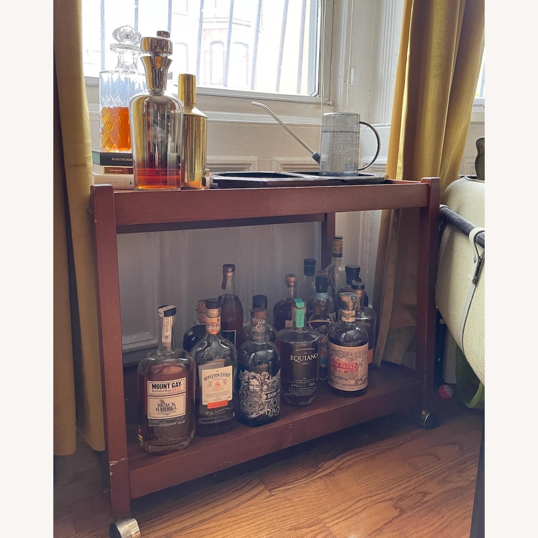 Vintage/Retro Wood Bar Cart - image-1