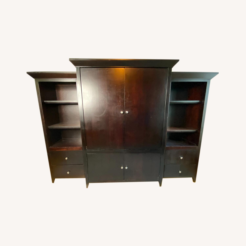 Wooden Cabinet & Shelving Set (3pc) - image-0