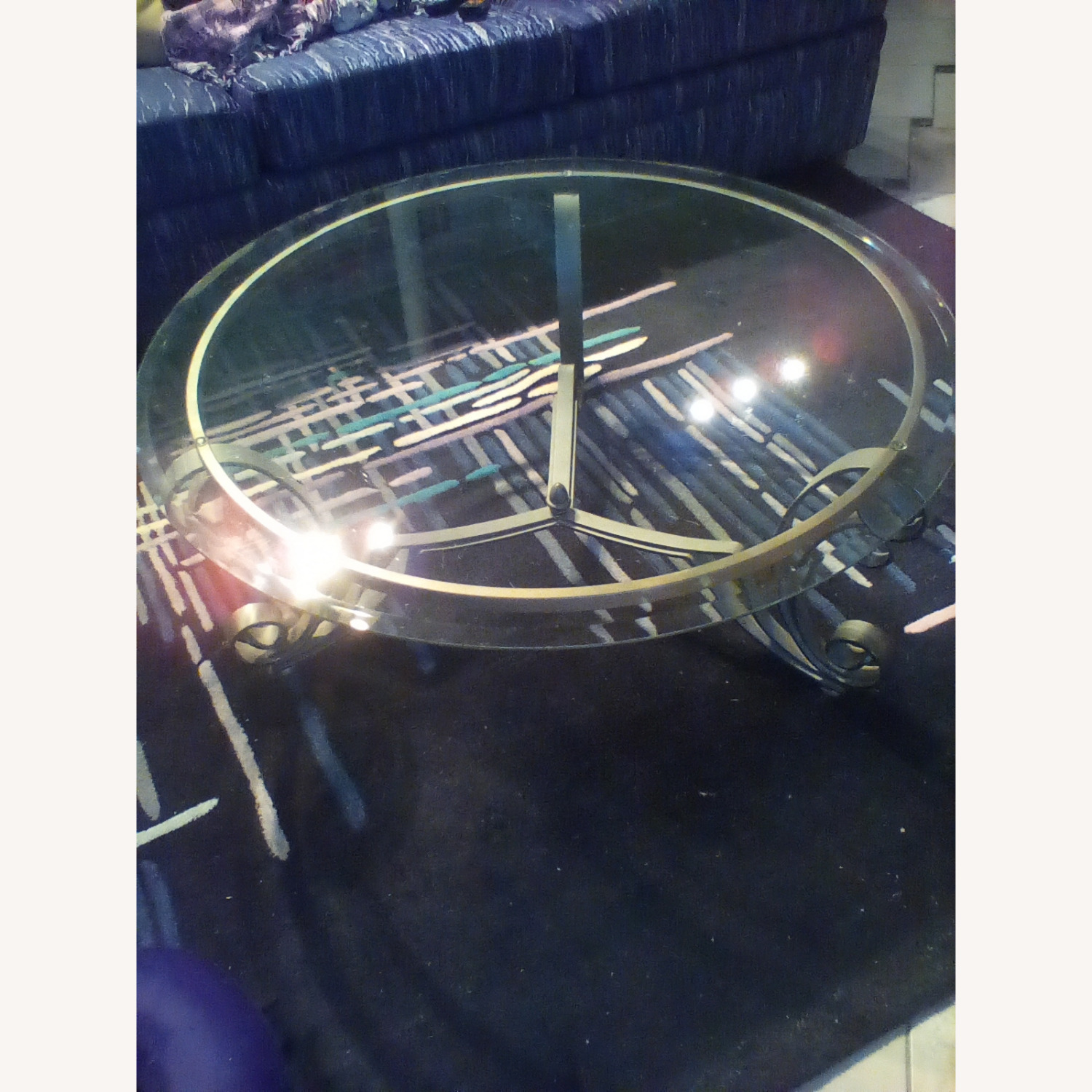 Beveled Glass Coffee Table - image-2