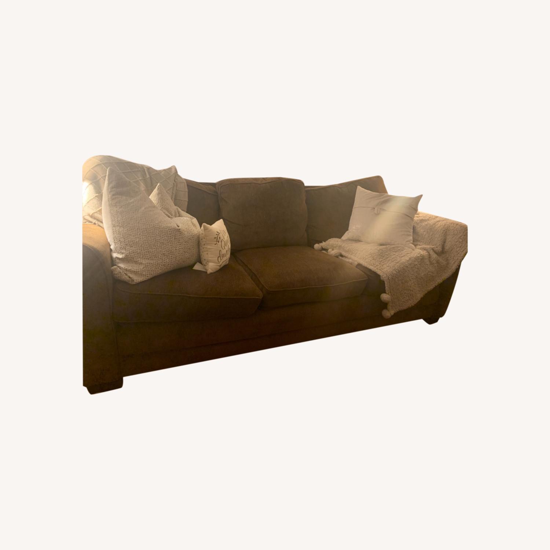 Dark Brown 3 Seater Sofa - image-0