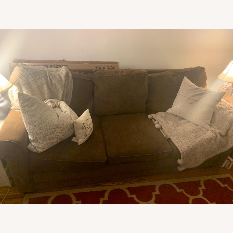 Dark Brown 3 Seater Sofa - image-3