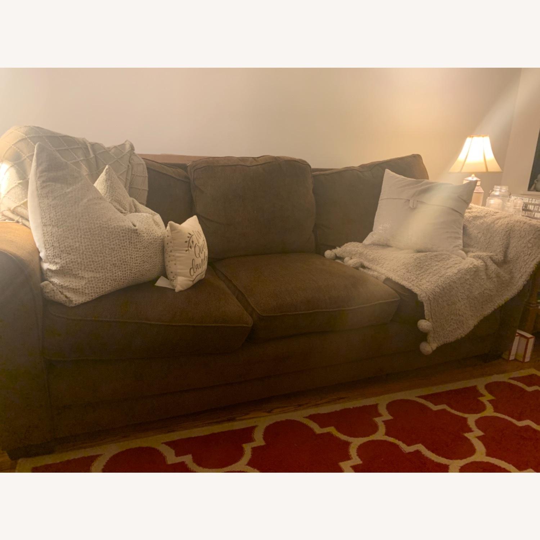 Dark Brown 3 Seater Sofa - image-1