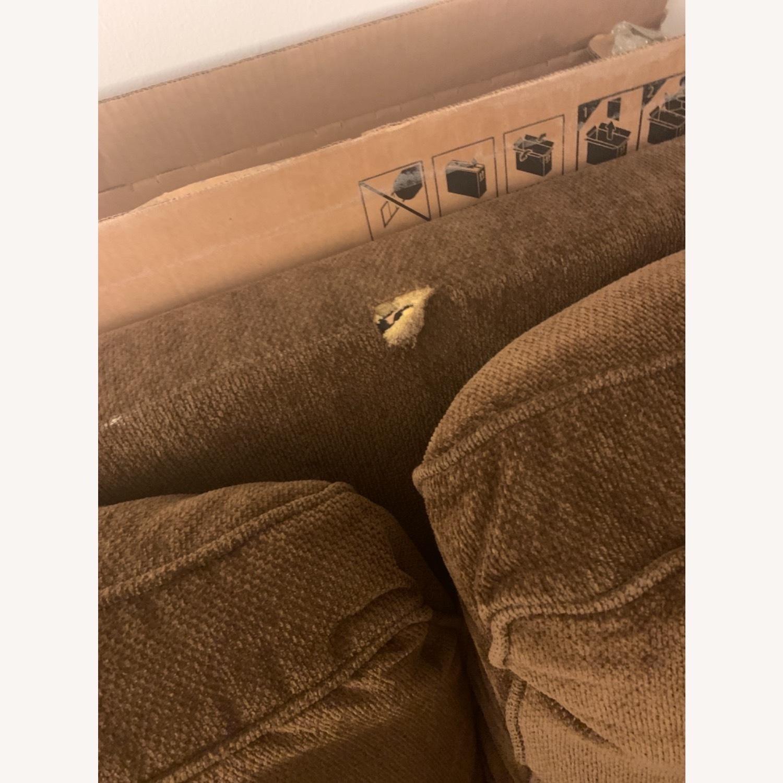 Dark Brown 3 Seater Sofa - image-4