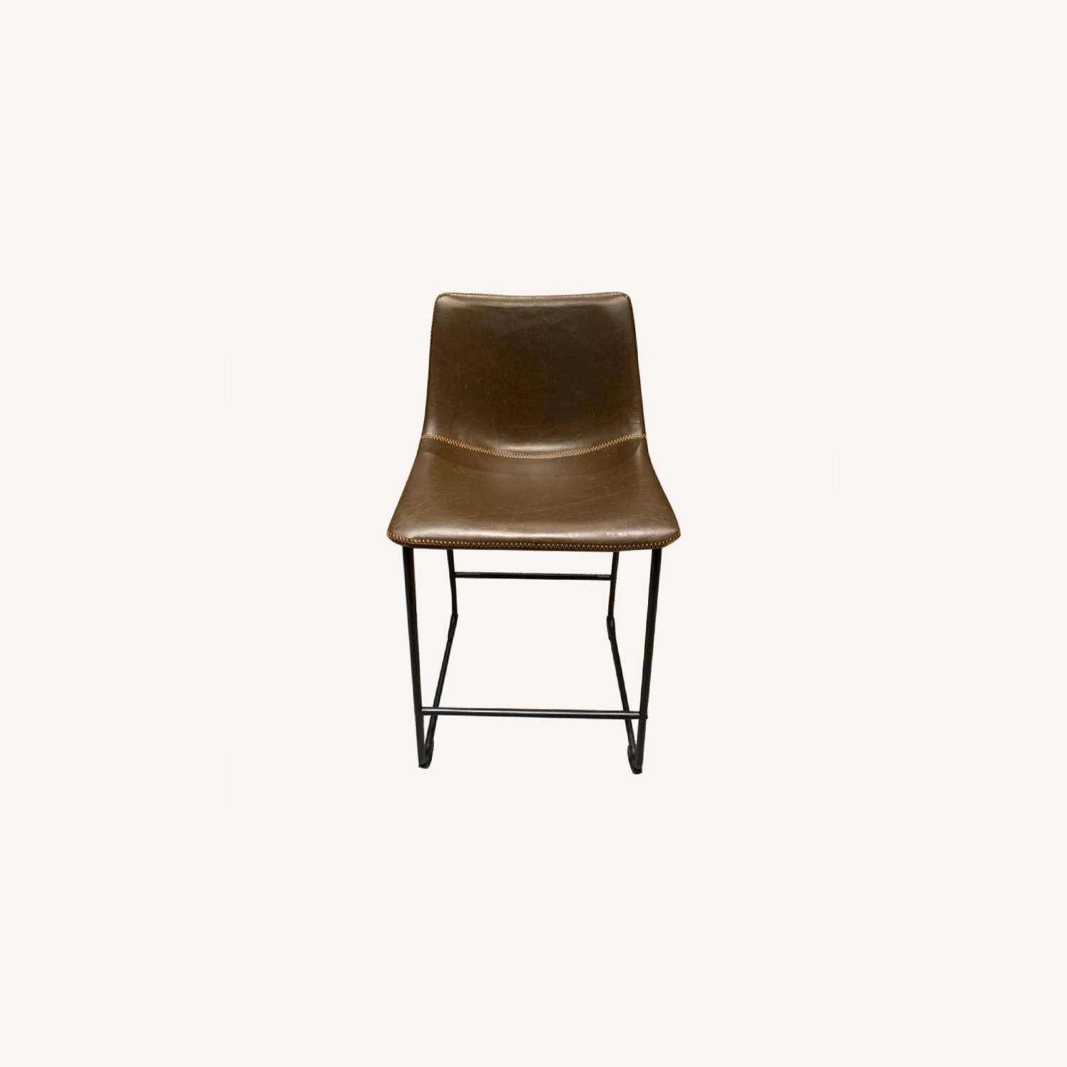 Counter Height Brown Stools with Back - image-0