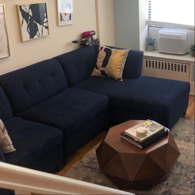 Dark Blue Sectional Sofa - image-1