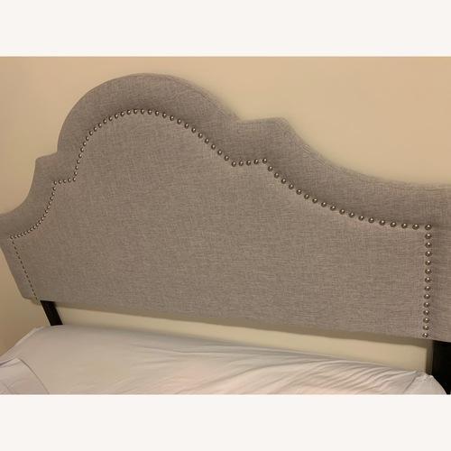 Used Wayfair Grey Upholstered Panel Headboard for sale on AptDeco