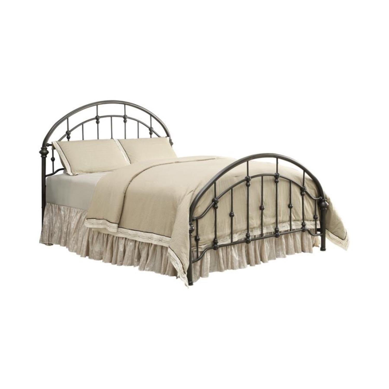 Full Bed In Canopy Design Dark Bronze Finish - image-0
