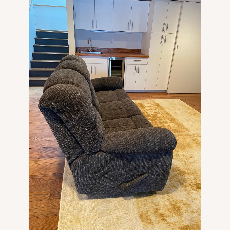 Double Recliner Comfy Grey Sofa - image-3