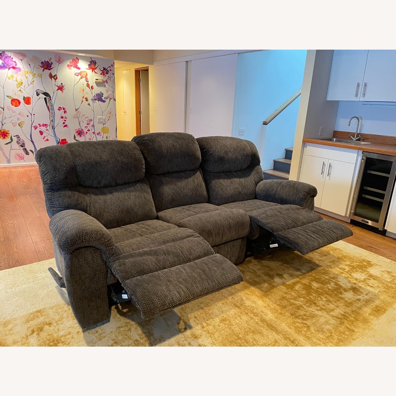 Double Recliner Comfy Grey Sofa - image-2