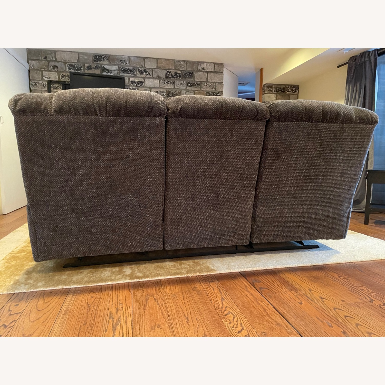 Double Recliner Comfy Grey Sofa - image-4