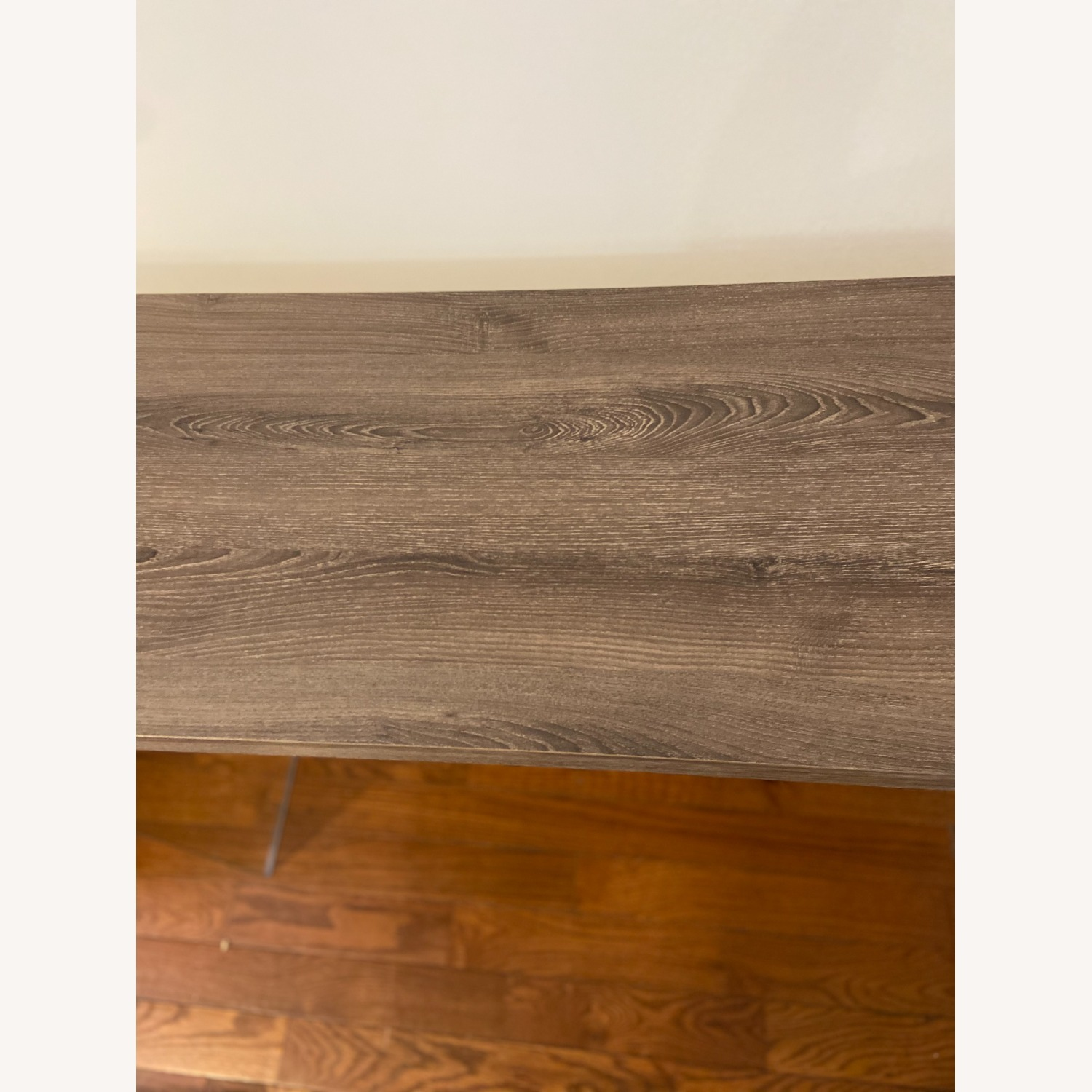Contemporary Glass / Wood Veneer Table Console - image-4