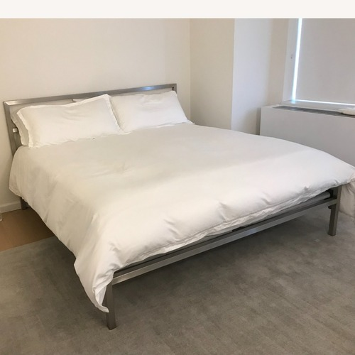 Used Room & Board Stainless Steel Bed for sale on AptDeco