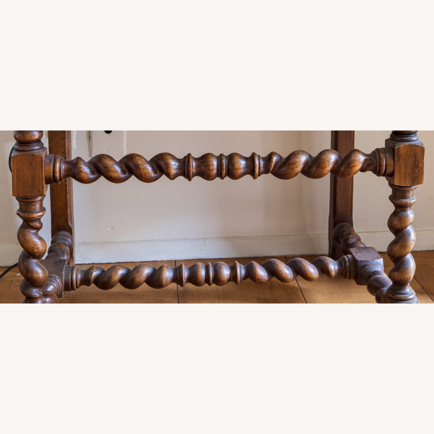 Wooden Antique Chair with Carved Men - image-3