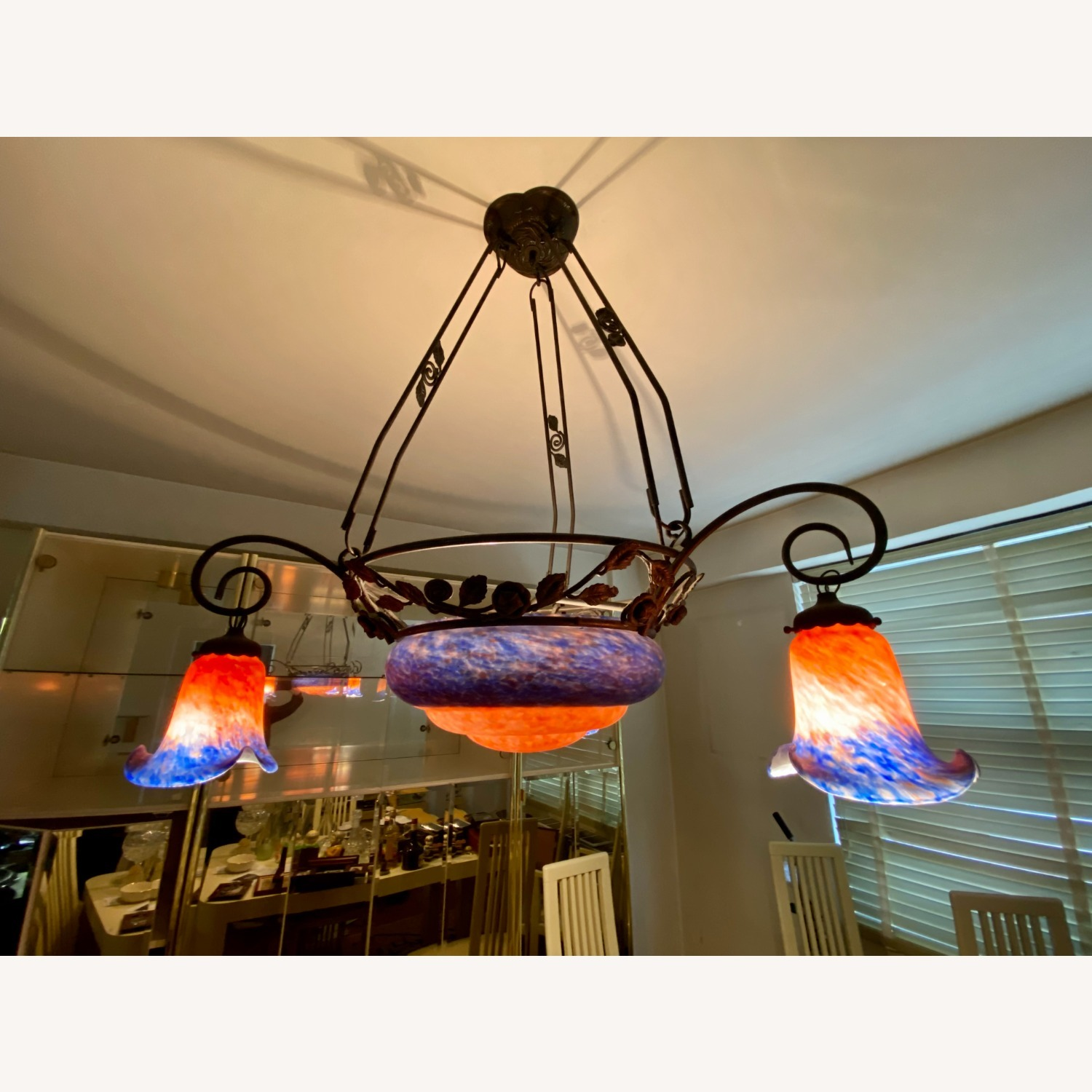 Tiffany Style Pink and Blue Chandelier - image-3
