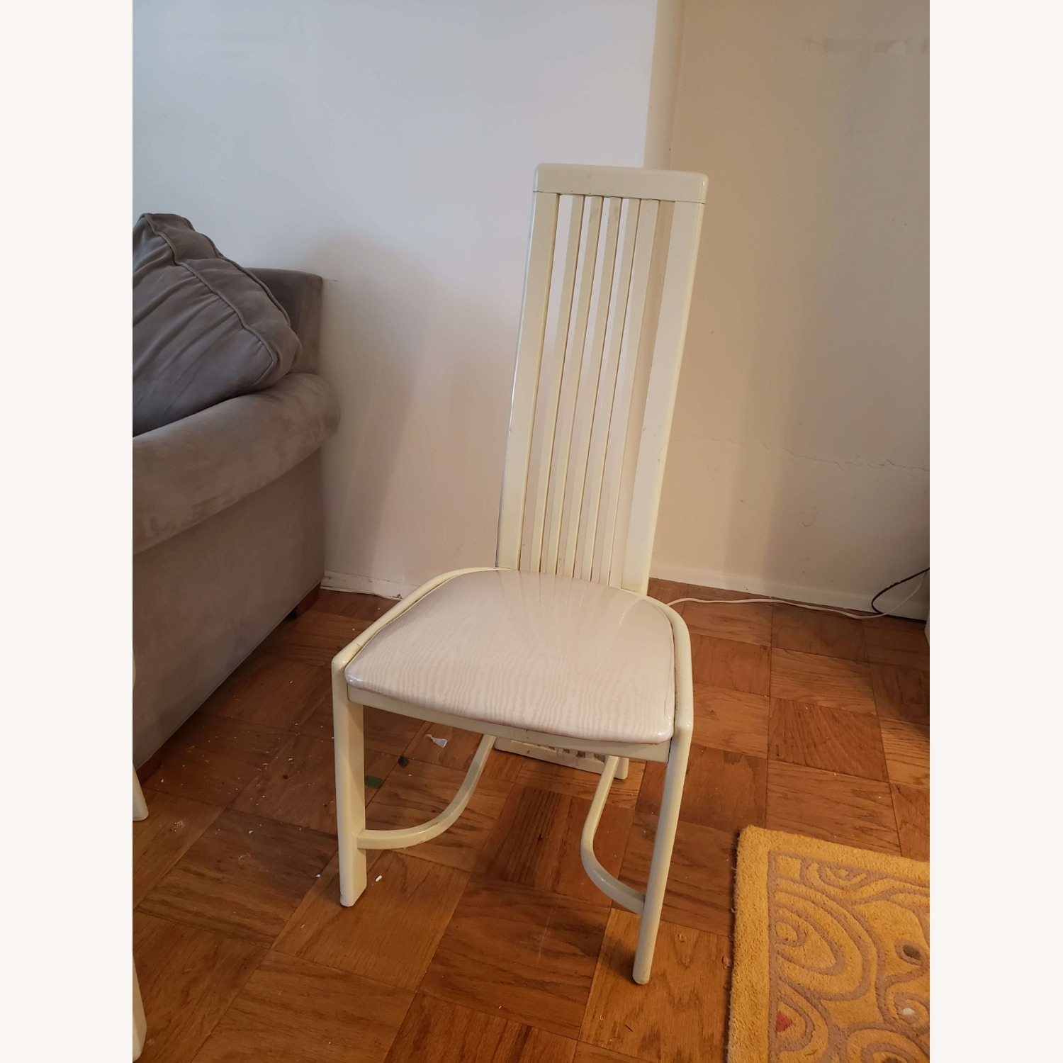 Set of White Dining Room Chairs - image-1