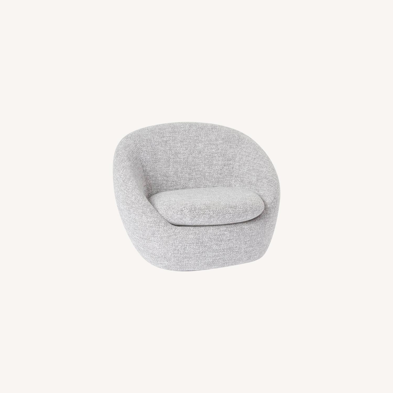 West Elm Cozy Swivel Chair, Gray - image-0