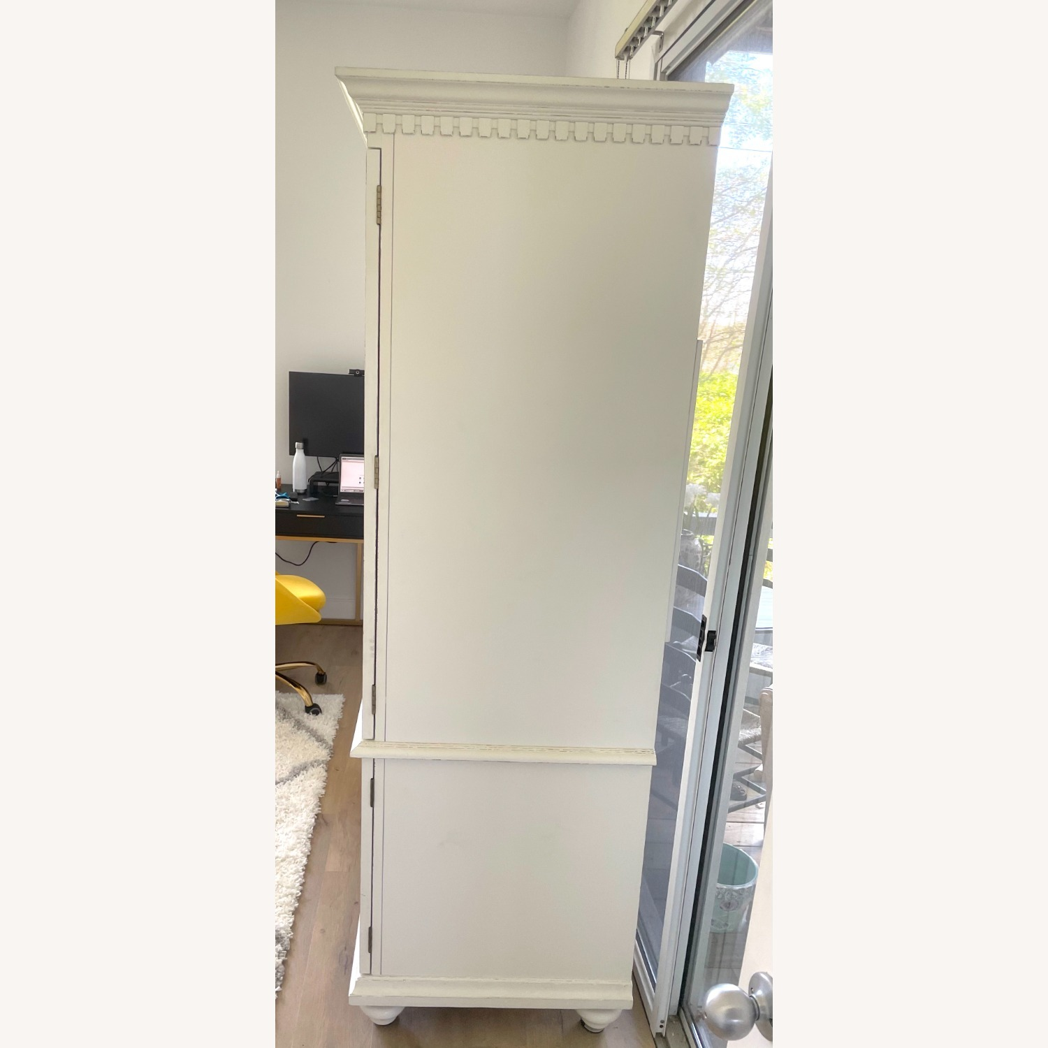 White Wooden Armoire / TV Cabinet - image-2