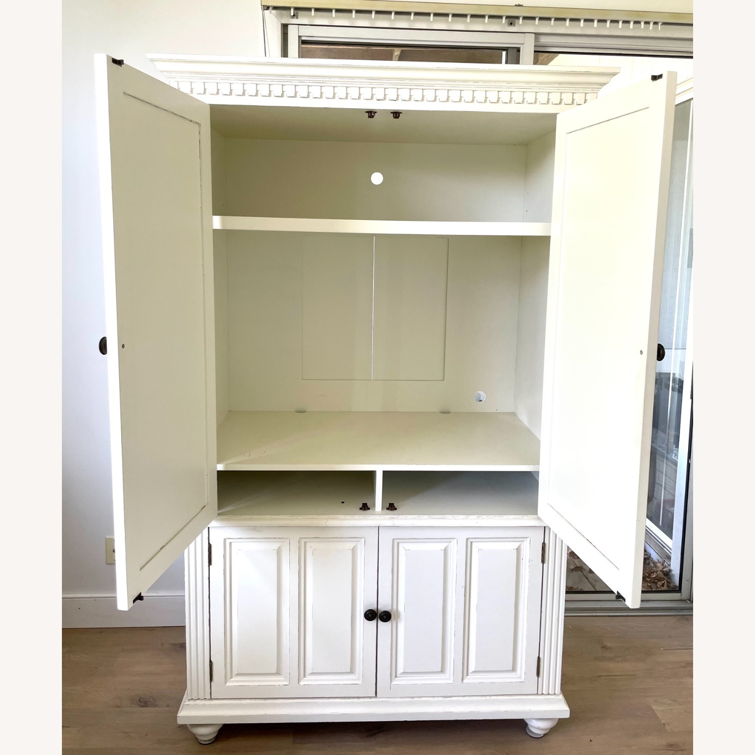 White Wooden Armoire / TV Cabinet - image-4