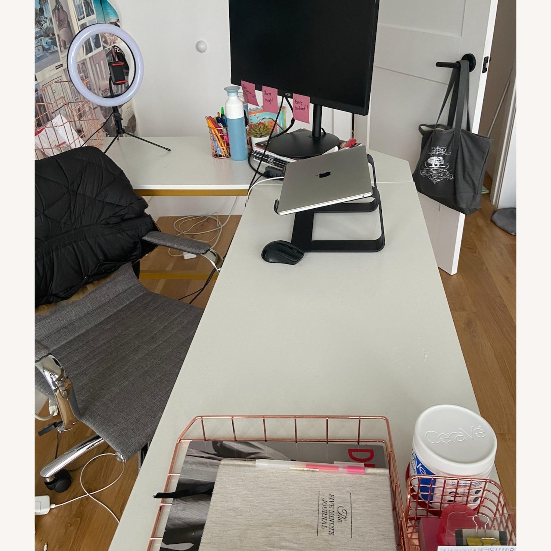 White & Gold Desk - image-3